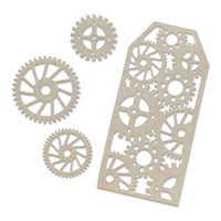 Couture Creations Chipboard - Tag and Gears