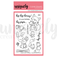 Uniquely Creative - Hey Papa... Bunnies and Foxes Stamps
