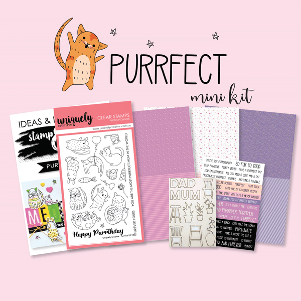 Uniquely Creative - Purrfect Stamp and Colour Mini Kit
