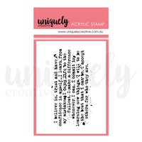 Uniquely Creative - Mini Stamp - Text Mark Making