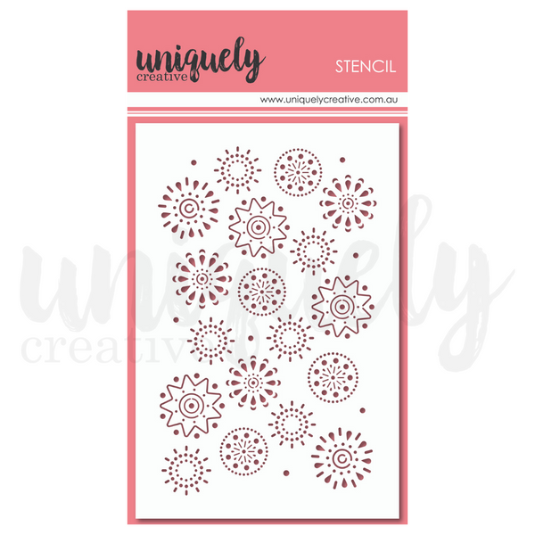 Uniquely Creative - Arty Elements Stencil