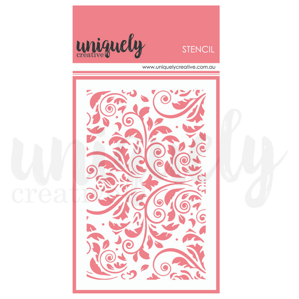 Uniquely Creative - Stencil - Damask