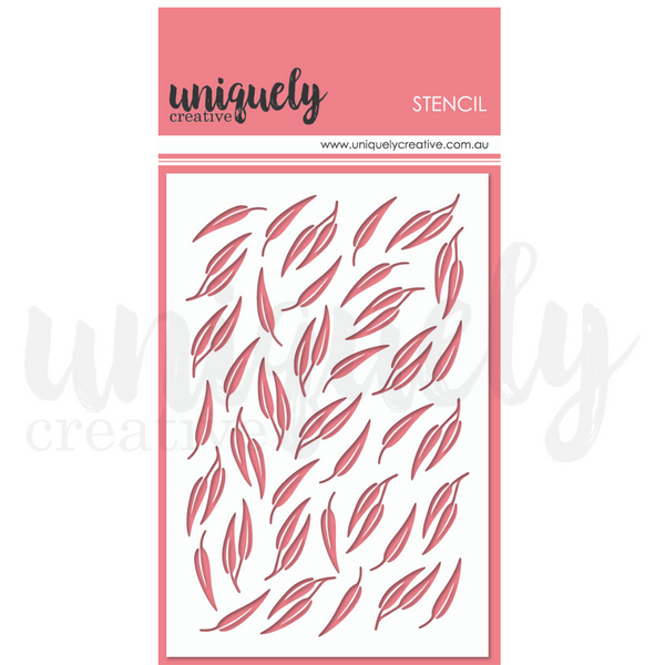 Uniquely Creative - Stencil - Gum Leaves