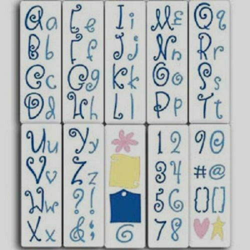 Cuttlebug 10 Die Cut Alphabet Curls and Swirls 76 shape all machine
