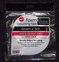 Foam Mounting Tape - 6mm x 4m