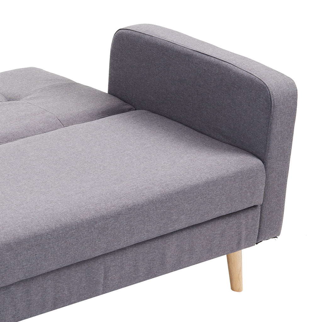Convertible 2 1 Sofa Bed Compact 3 Seater Couch Lounge Sleeper