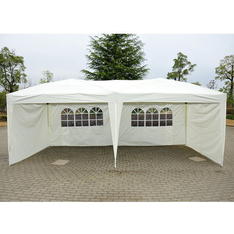 10'x20' Pop Up Party Tent Outdoor Patio Instant Wedding Canopy Shelter with 4 Side Walls