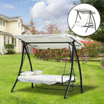 2-in-1 Lounge Hammock  3 Seater Swing Chair Cushioned Canopy