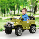 12V Kids Electric Ride On Toy Truck Jeep Car with Remote Control
