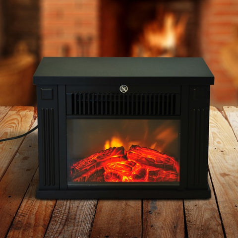 1000W Mini Standing Electric Fireplace Portable Heater