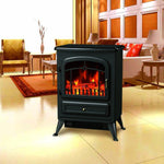 "16"" Free Standing Electric Fireplace Portable Adjustable Heater"