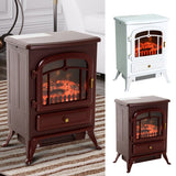 Electric Fireplace with Heater Wood Burning Flame