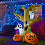 Outdoor Lighted Inflatable- Haunted Tree Ghost/Pumpkins