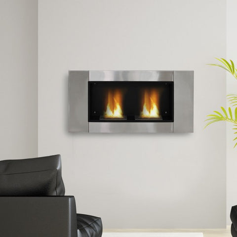 Ventless Bio Ethanol Fireplace Recessed