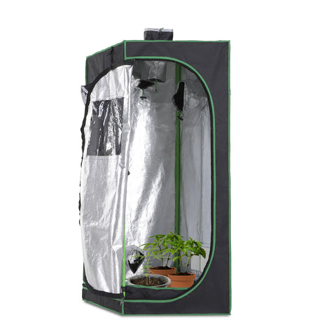 Hydroponic Plant Grow Tent Mylar Window Floor Tray
