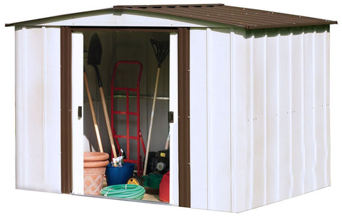 WM Arrow Newburgh Shed Coffee/Eggshell Steel Storage 8' x 6'