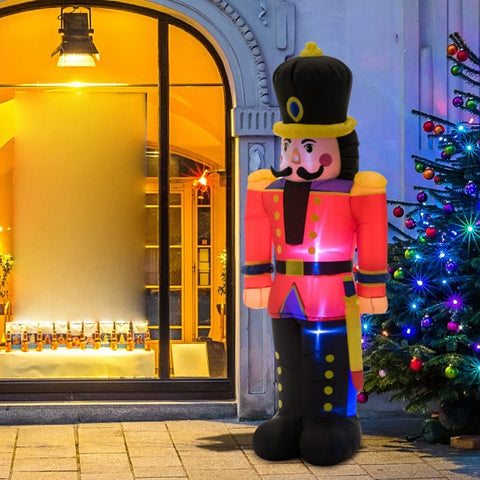 6 Ft Lighted Inflatable- Nutcracker Toy Soldier