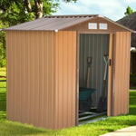 7'x4'Garden Storage MetalNStorage w/Floor Foundation