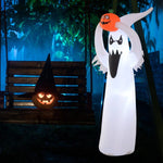 6ft LED Outdoor Halloween- Ghost with Pumpkin