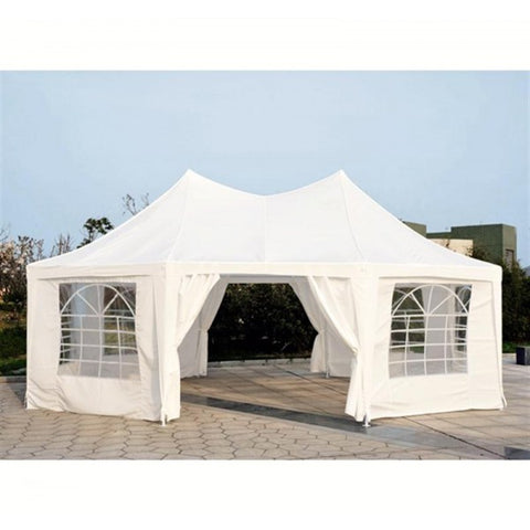 22.3ft Octagonal Party Tent Wedding Event Shelter Outdoor with 8 Removable Walls