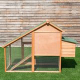 "67"" Outdoor Rabbit Hutch Chicken Coops Cage with Ladder CW"