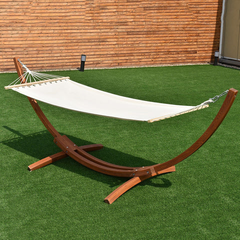 "142"" x 50"" x 51"" Wooden Curved Arc Hammock"