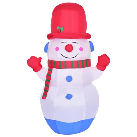 6' Indoor / Outdoor Colorful LED Christmas Snowman