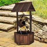Garden Wooden Wishing Water Fountain with Pump