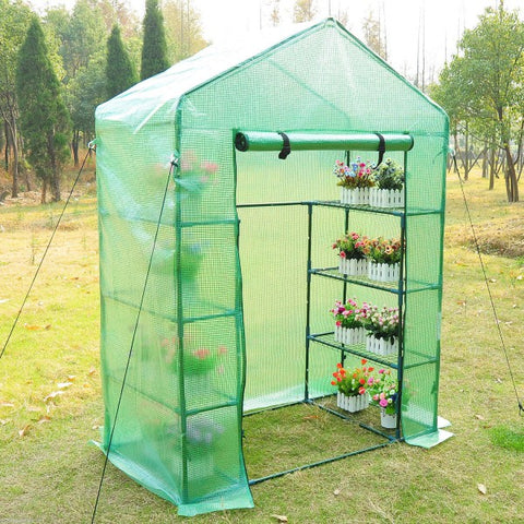 Portable 4-Tier Warm Pop up Greenhouse with Shelves