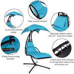Hanging Arc Stand Porch Swing Hammock Chair with Canopy