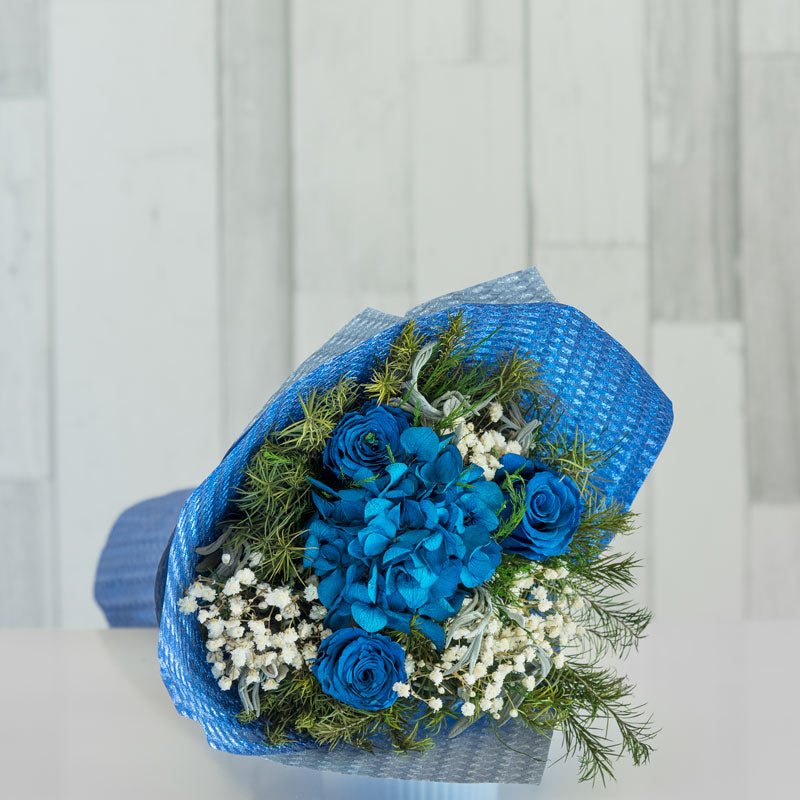 Blue Floral Everlasting