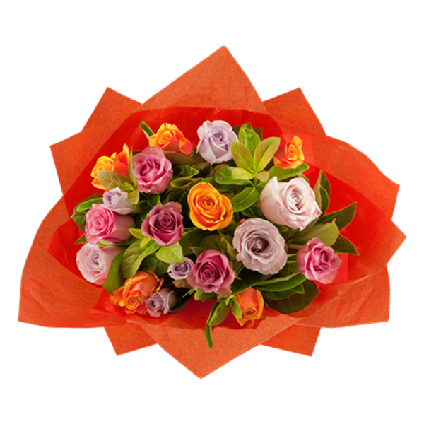 Multi Coloured Rose Bouquet