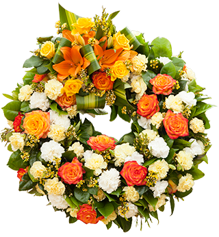 Orange Rose Wreath