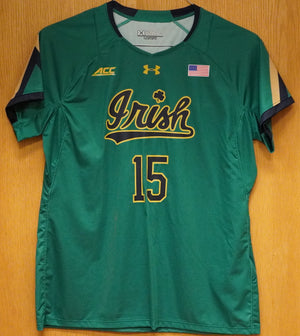 GAME WORN WOMEN'S SOCCER JERSEY #15 (Large)