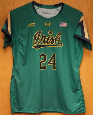 GAME WORN WOMEN'S SOCCER JERSEY #24 (Large)