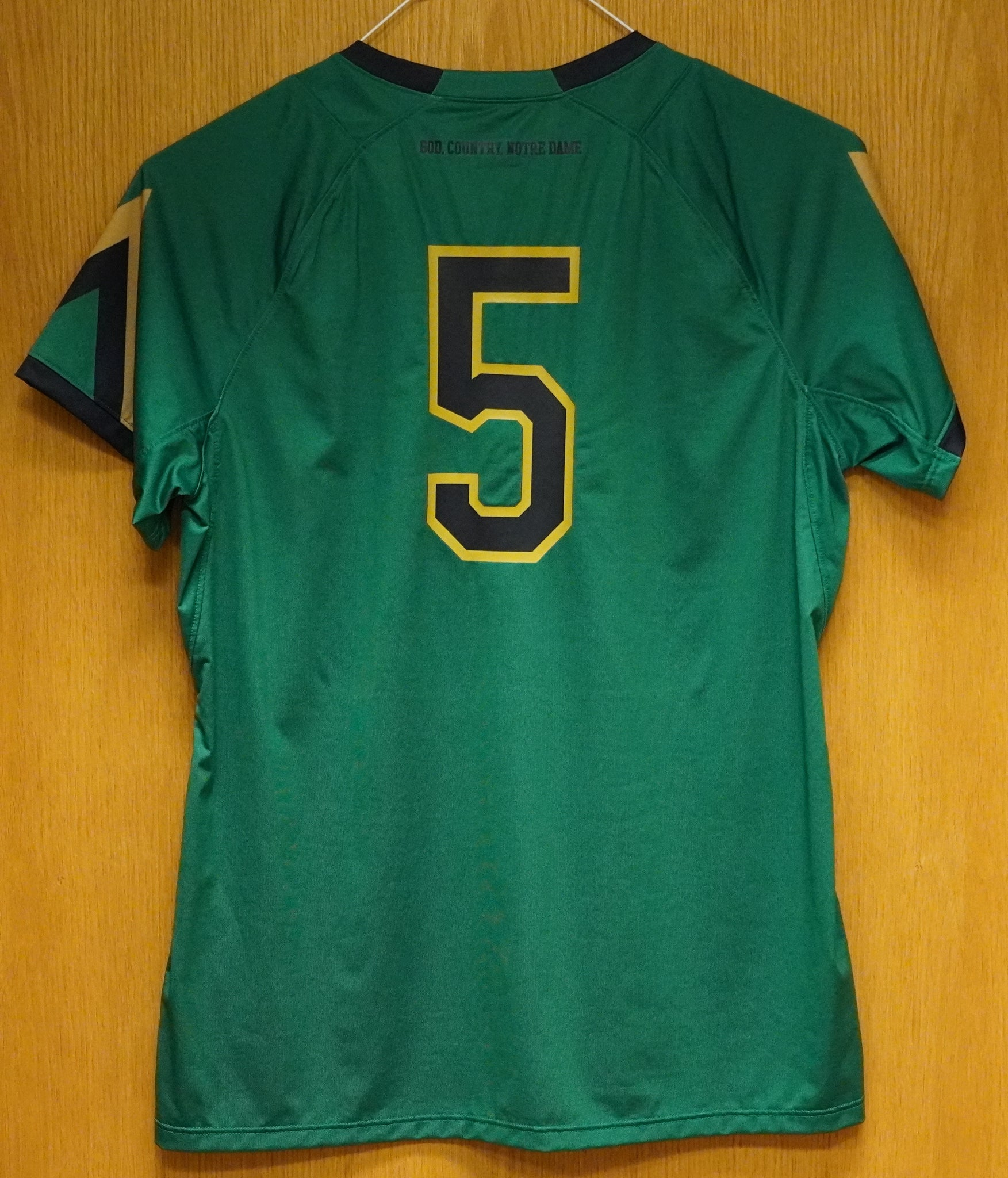GAME WORN WOMEN'S SOCCER JERSEY #5 (Large)