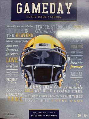 Game Program: Notre Dame Football vs. New Mexico (Sept. 14, 2019)