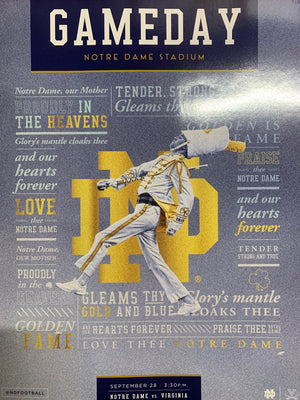 Game Program: Notre Dame Football vs. Virginia (Sept. 28, 2019)