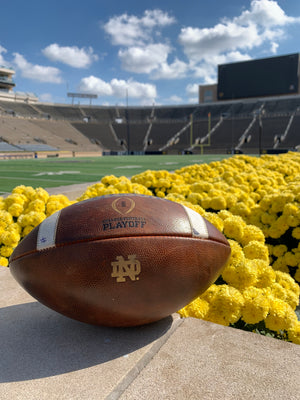 Official Notre Dame Game Ball vs. USC (#2)