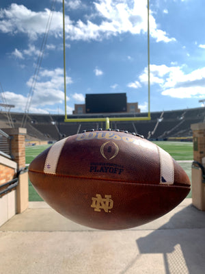 Official Notre Dame Game Ball vs. USC (#1)