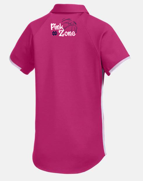 "Pink Zone Personalized Polo Worn by Kayla ""K-Mac"" McBride"