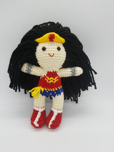 wonder woman amigurumi crochet figurine dc comic nerdystuffed