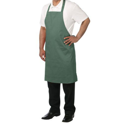 Chef Revival 601NP-HG Bib Apron, Hunter Green