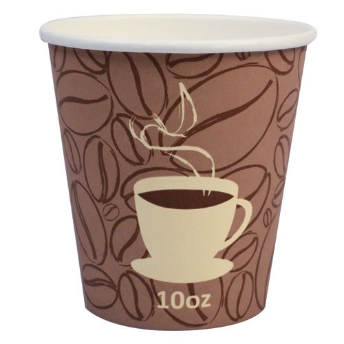 Prime Source 10 Ounce Squat Stock Print Hot Cup - 1000 per Case