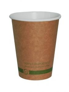 World Centric 20 Ounce FSC Kraft PLA Hot Cup - 1000 per Case