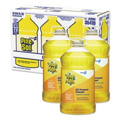 Pine-Sol Concentrated Lemon Fresh Cleaner - 3 Each 144 Fl Ounce Plastic Bottles per Case