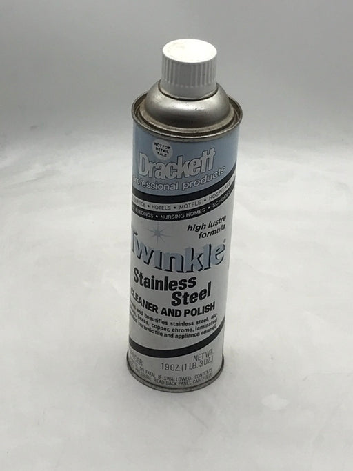 Drackett Twinkle Stainless Steel Cleaner and Polish - 12 Each 19 Ounce Aerosol Cans per Case