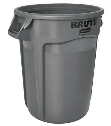 Rubbermaid Plastic Brute 44 Gallon Waste Basket, Vented - 3 per Stack