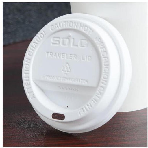 Solo Traveler Plastic Lid, 10 Ounce White - 1000 per Case