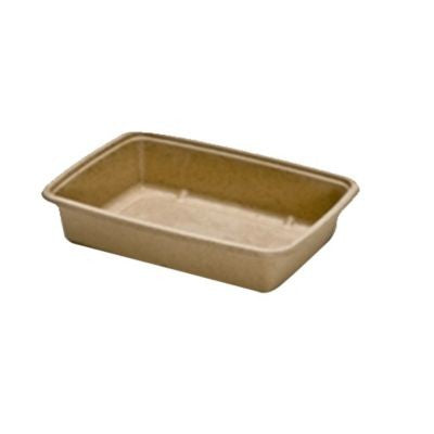 "Sabert Rectangular Pulp Container, 30 Ounce and 6x9"" - 300 per Case"